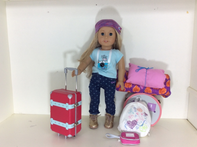 American Girl Doll #27 packing, luggage, dolls, travel