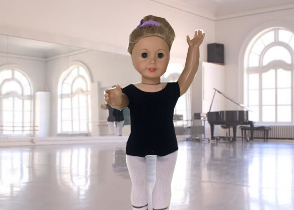 Jade in Ballet Class With Background